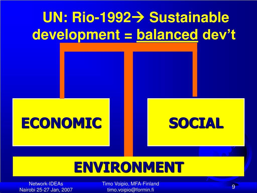 UN: Rio-1992