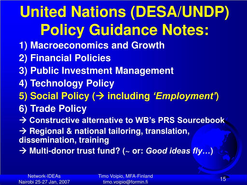 United Nations (DESA/UNDP)