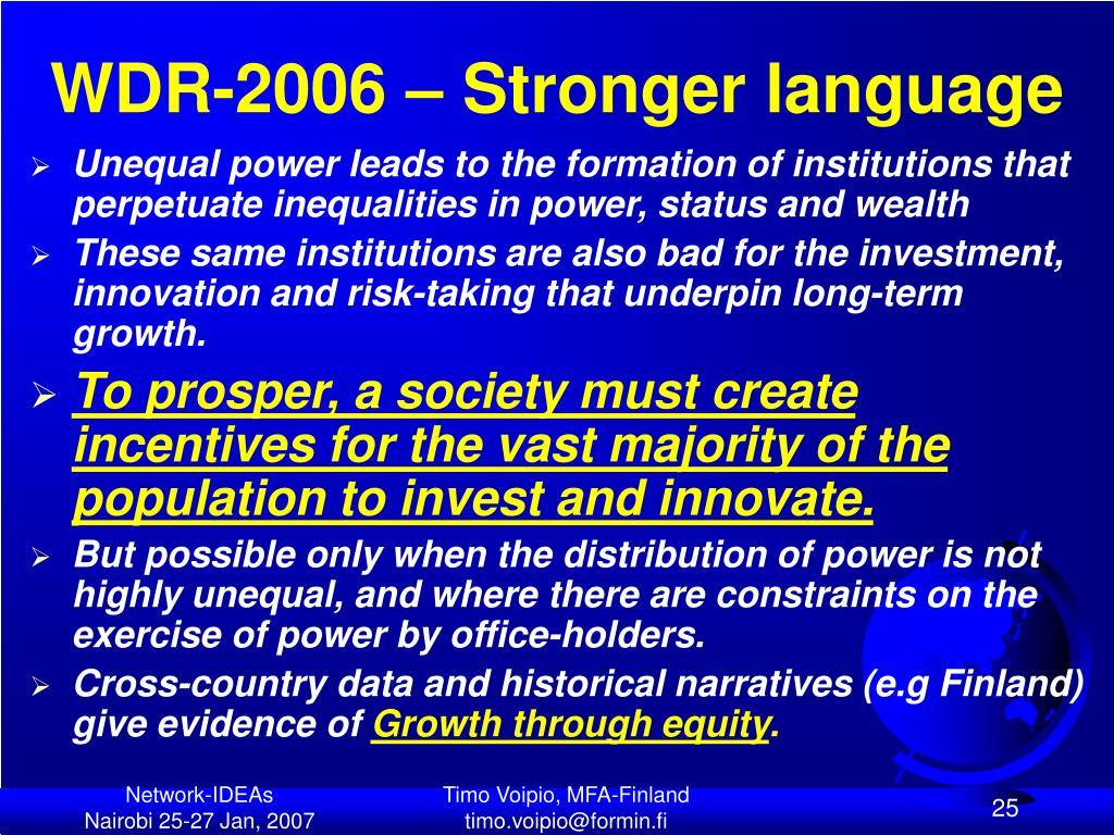 WDR-2006 – Stronger language