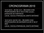 cronograma 2010