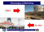 advantages of marketing