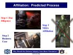 affiliation predicted process