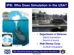 ipb who does simulation in the usa