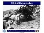 ndia affiliation update