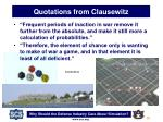 quotations from clausewitz