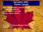 springsim 2008 ottawa canada