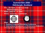summersim 2008 edinburgh scotland