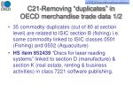 c21 removing duplicates in oecd merchandise trade data 1 2