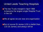 united leeds teaching hospitals