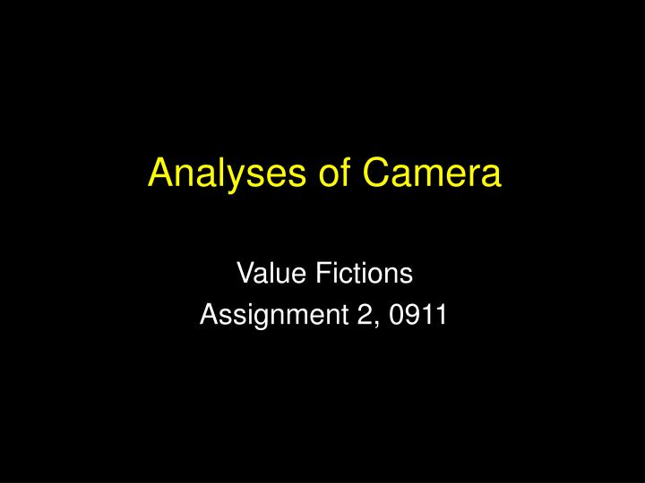 analyses of camera n.