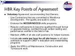 hbr key points of agreement