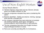 use of non english workers