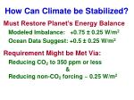 how can climate be stabilized1