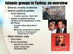 islamic groups in turkey an overview