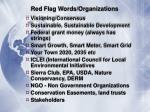 red flag words organizations