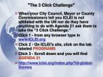 the 3 click challenge