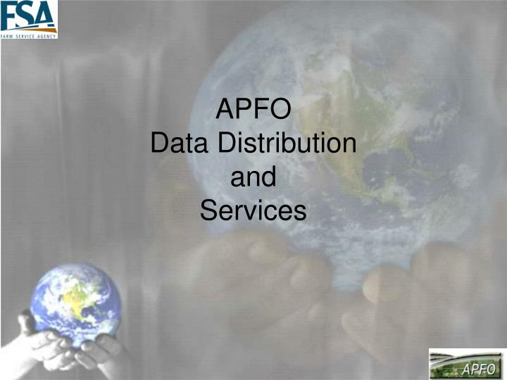apfo data distribution and services n.
