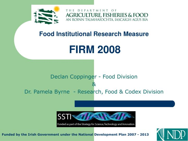 food institutional research measure firm 2008 n.