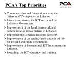 pca s top priorities