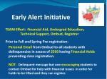 early alert initiative