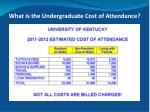 what is the undergraduate cost of attendance