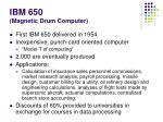 ibm 650 magnetic drum computer
