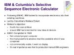 ibm columbia s selective sequence electronic calculator
