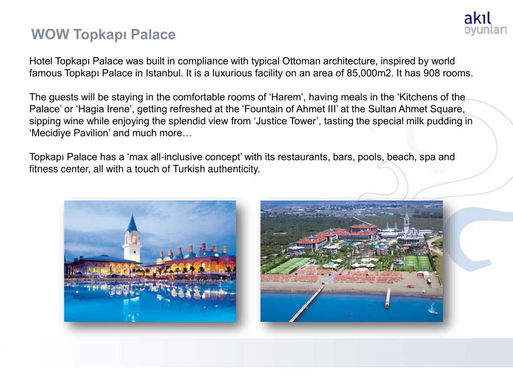 WOW Topkapı Palace