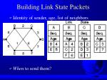 building link state packets
