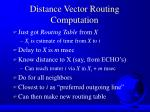 distance vector routing computation