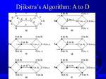 djikstra s algorithm a to d