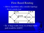 flow based routing