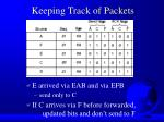 keeping track of packets1
