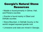 georgia s natural stone resources