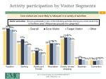activity participation by visitor segments