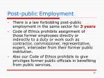 post public employment