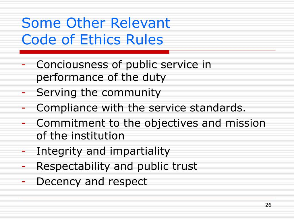 ethics rules