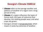 georgia s climate ss8g1d