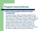 program internal review3