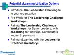 potential elearning utilization options