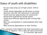 status of youth with disabilities
