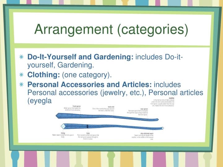 Arrangement (categories)