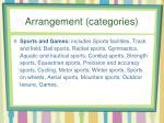 arrangement categories6