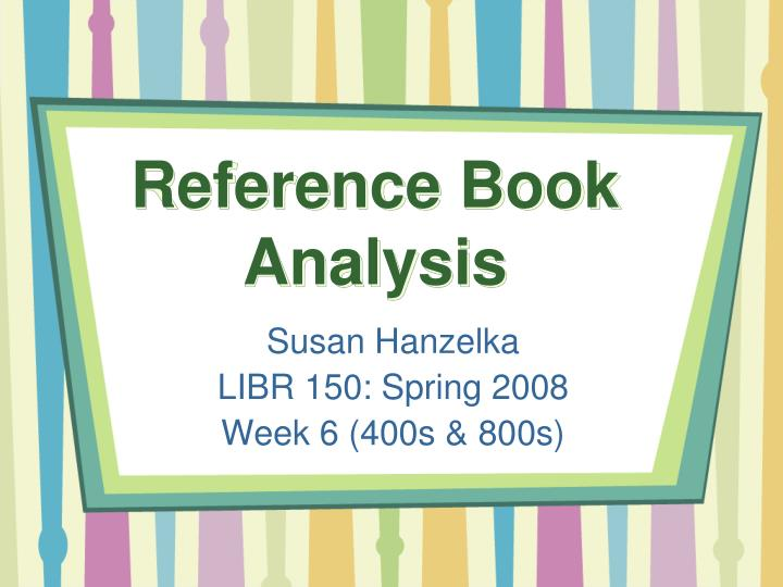 Reference book analysis