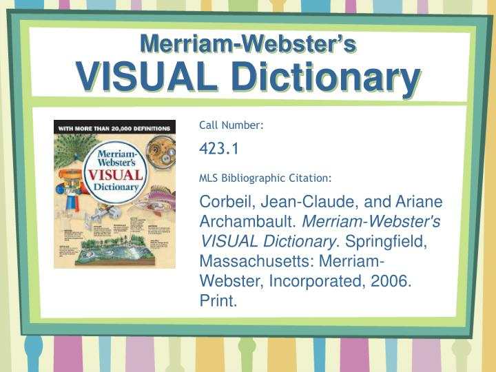 Merriam-Webster's