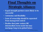 final thoughts on strategic alliances1