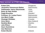 new women on ftse 100 boards