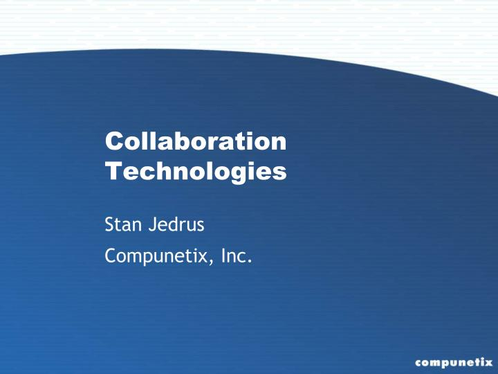 collaboration technologies n.