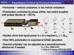 polarization control by crossed undulator