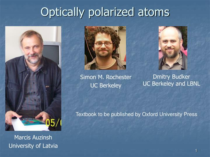 optically polarized atoms n.